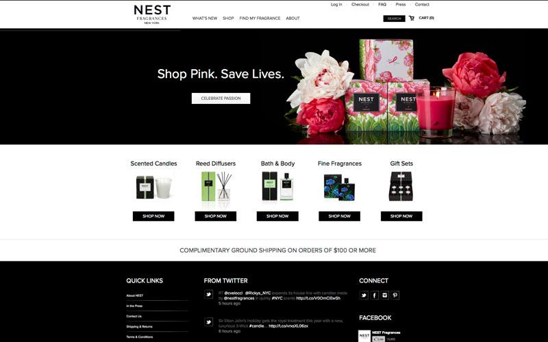 Nest Fragrances Ecommerce Website
