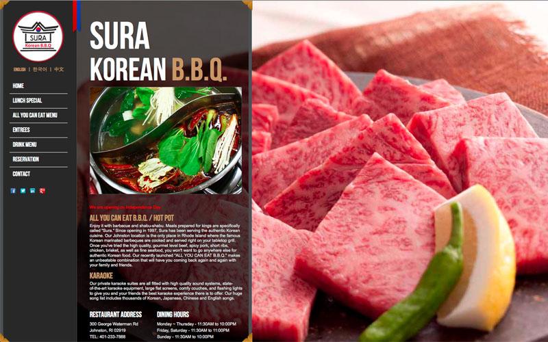 Sura Korean Restaurant Website